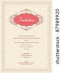 invitation card design | Shutterstock .eps vector #87989920