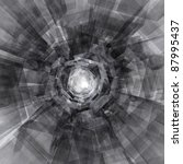 Black and white abstract design - stock photo