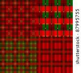 set plaid patterns  tartan ... | Shutterstock .eps vector #87995755