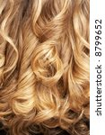 close up of curly blond hair | Shutterstock . vector #8799652