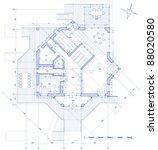 house plan  vector blueprint.... | Shutterstock . vector #88020580