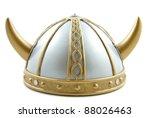 Decorated Old Viking Helmet On...
