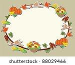 thanksgiving day  oval frame | Shutterstock . vector #88029466