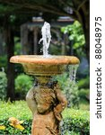 Water Pumped Into The Air From...