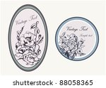 vector ornamental vintage cameo ...   Shutterstock .eps vector #88058365