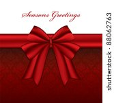 red christmas bow with seasonal ...   Shutterstock .eps vector #88062763