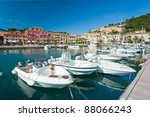 view of portoazzurro. isle of... | Shutterstock . vector #88066243