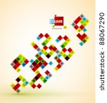 vector color squares abstract... | Shutterstock .eps vector #88067290
