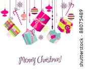 christmas gifts in retro style. ...