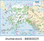 alaska state map | Shutterstock .eps vector #88083025