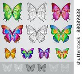 set of different colored... | Shutterstock .eps vector #88089838