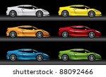 sport car illustration  ... | Shutterstock .eps vector #88092466