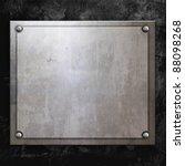 steel metal plate on concrete...   Shutterstock . vector #88098268