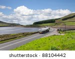fuel tanker a long the road | Shutterstock . vector #88104442