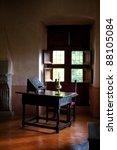 Antique Writing Desk In A Rura...
