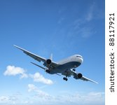 jet aircraft is maneuvering for ... | Shutterstock . vector #88117921