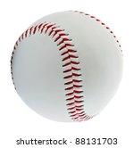 baseball ball on the white...   Shutterstock . vector #88131703