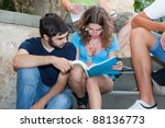 multicultural group of college...   Shutterstock . vector #88136773
