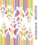 colorful butterfly background | Shutterstock .eps vector #88139932