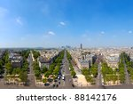 Panoramic view of the architecture of Paris, France. - stock photo