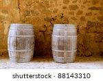 Barrels Of Wine Built In Oak...
