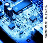 electronic circuit close up.... | Shutterstock . vector #88143676