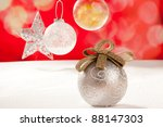 christmas silver bauble and... | Shutterstock . vector #88147303