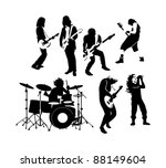 silhouette of rock and roll... | Shutterstock .eps vector #88149604