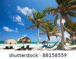perfect caribbean beach in... | Shutterstock . vector #88158559