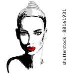 illustration of beautiful... | Shutterstock . vector #88161931