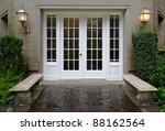elegant stone walkway bordered... | Shutterstock . vector #88162564