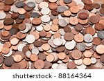 Pile Of Coins  British Currency