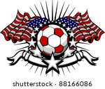 stars and stripes patriotic... | Shutterstock .eps vector #88166086