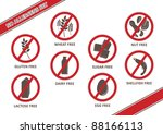 vector stickers for allergen... | Shutterstock .eps vector #88166113