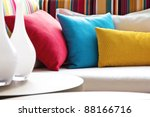 decorative pillow natural fabric | Shutterstock . vector #88166716