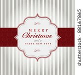 vector gray and red christmas... | Shutterstock .eps vector #88167865