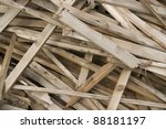 detail of some broken wood planks - stock photo