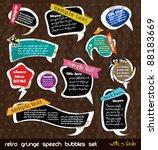 retro grunge speech bubbles... | Shutterstock .eps vector #88183669