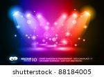 magic spotlights with rainbow...