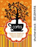 restaurant menu design. coffee... | Shutterstock . vector #88184446
