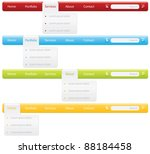 navigation bars with drop down... | Shutterstock .eps vector #88184458