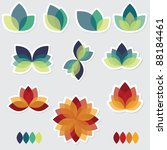 floral design elements | Shutterstock .eps vector #88184461