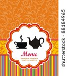 restaurant menu design. tea cup.... | Shutterstock . vector #88184965