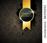 vector quality golden label... | Shutterstock .eps vector #88190353