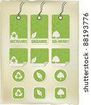 green grunge recycle tags and... | Shutterstock .eps vector #88193776