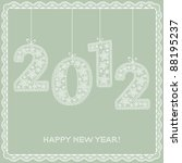 happy new year  2012 lace... | Shutterstock .eps vector #88195237