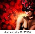 single beautiful woman in... | Shutterstock . vector #88197190