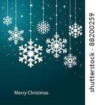 christmas snowflake | Shutterstock .eps vector #88200259