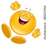 Cheerful Emoticon Jumping In...