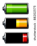 vector batteries icons. all... | Shutterstock .eps vector #88202575